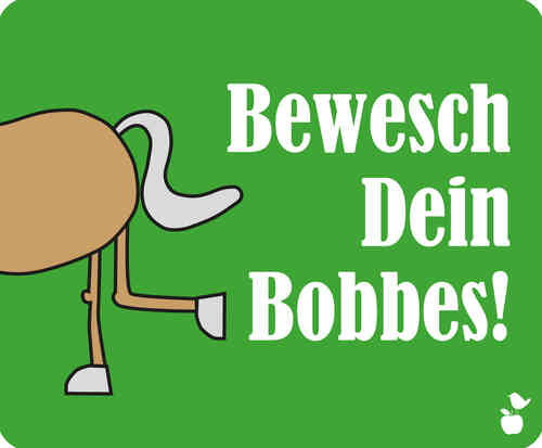 "Hessisches Mousepad Spruch ""Bobbes"""