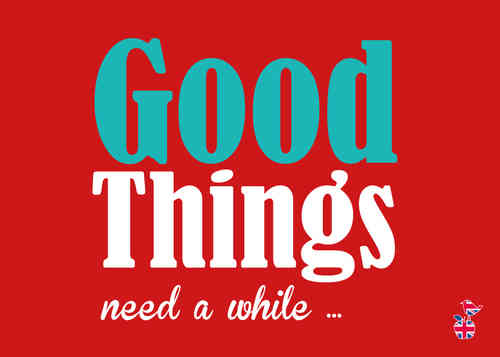 "Denglische Postkarte ""Good Things"""