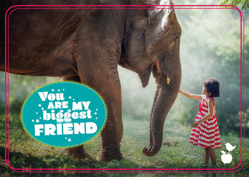 "Postkarte NL Freundschaft ""My biggest friend"""