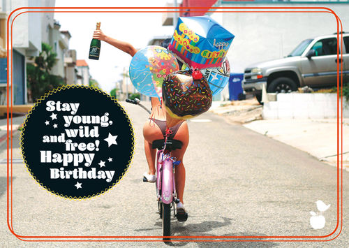 "Postkarte NL Geburstag ""Stay young"""