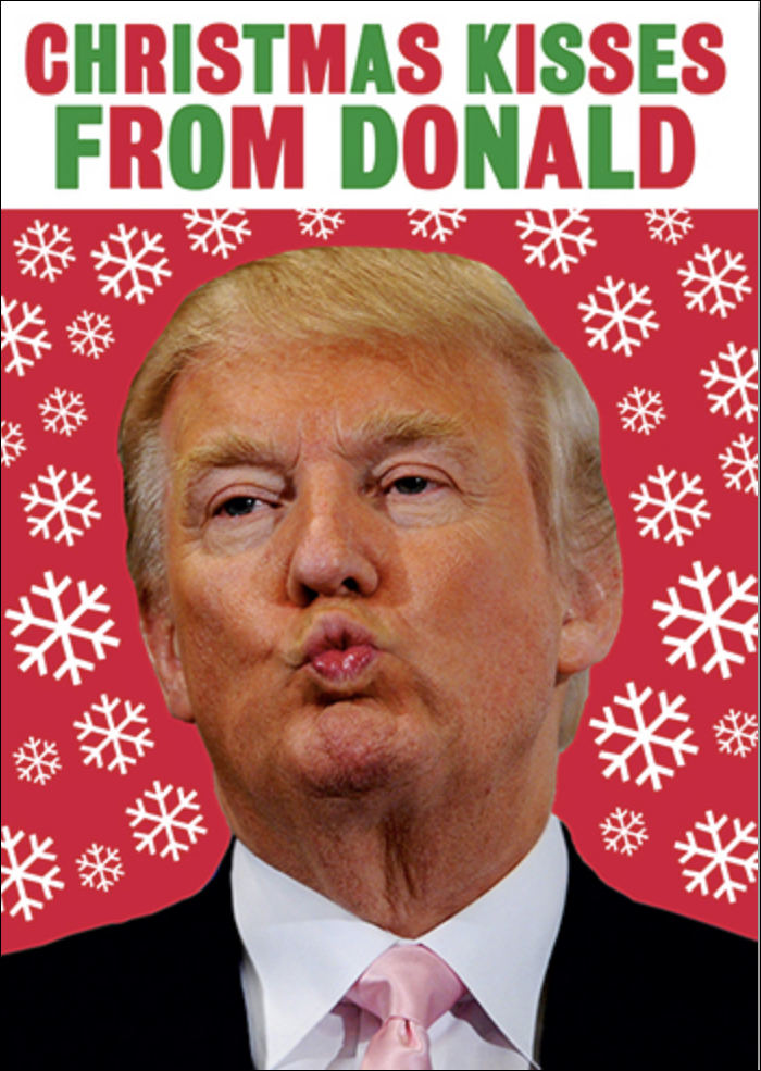 "Dean Morris Cards ""Christmas Kisses From Donald"""